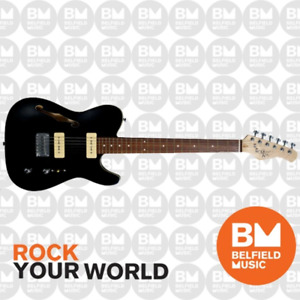 Michael Kelly 1950s Series 59 Thinline Electric Guitar Gloss Black - MK59FGBJRC