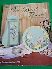 One Brush Florals By Sandy Aubuchon 1998 Flower Paint Book