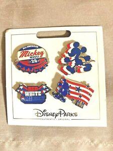 Disney Parks 2018 Patriotic Pin Set 4 Pins