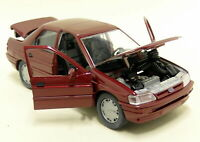 FORD ORION 1:24 scale 90's diecast model car die cast toy miniature Burgundy Red