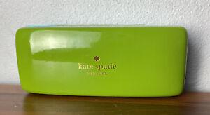 Kate Spade Green & Turquoise Sunglass/Eyeglass Hard Shell Case