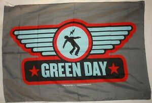 """Rare Green Day Wings Shock Man Cloth Fabric Poster Flag Banner 30"""" x 40"""" New"""