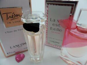 LANCOME TRESOR in LOVE ~Le vie est BELLE ROSE Women MINI Miniature PERFUME Set