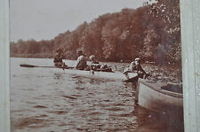 Ca 1896 Skow Rowing Adirondak Lake Photo, North Hudson, New York