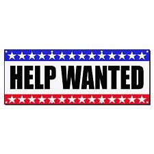 HELP WANTED Business Sign Banner 4 feet x 2 feet /w 4 Grommets