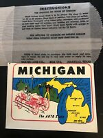 Vintage RARE decal Michigan the auto state Baxter Lane NEW ORIGINAL PACKAGE