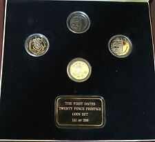 RARE 2008 Undated 20p Mule Coin First Dates Twenty Pence Prestige 4 Coin Set