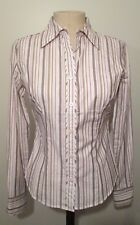 Ann Taylor LOFT Petites NWT Brushed Cotton Striped Shirt PXS