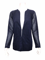 Kelly by Clinton Kelly Women's Cardigan with Front Pockets Navy Small Size