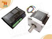 US FREE Nema 42 stepper motor 1700oz-in + AC DRIVER DQ2522 110-220V CNC KIT