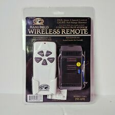 Hampton Bay T2R1 Hand Held Ceiling Fan Wireless Transmitter Remote & Receiver T2