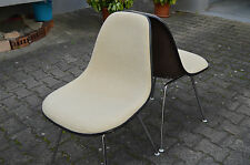 2x EAMES DAX SIDE EASY CHAIR STUHL CHAISE HOPSACK for HERMAN MILLER VITRA 70's