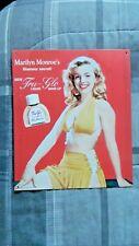 Marilyn Monroe Tru-Glo Liquid Make-Up Westmore Metal Sign 1994
