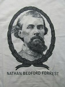 Civil War CSA Cavalry NATHAN BEDFORD FORREST XLG. T-Shirt, Confederate, Guerilla