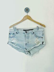 One Teaspoon Bandit Denim Shorts Size 28