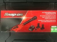 "Snap On 1/4"" 14.4V MicroLithium-Ion Cordless Long Neck Ratchet CTR767GK2 **NEW**"