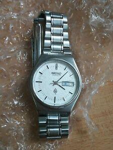 Seiko Quartz 4803-8010 vintage Japan JDM Suwa Seikosha snowflake watch AS-IS