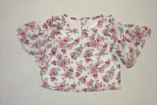 Janie and Jack blossom town floral ruffle sleeve top shirt size 4 HCB NWT blue