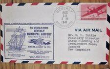 1941 BEVERLY MASSACHUSETTS  AIRPORT  DEDICATION COVER