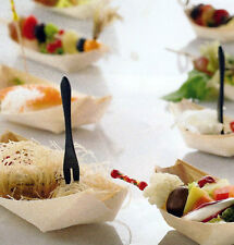 PIROGHE LEGNO 9,5cm PER PARTY FESTE ACCESSORI FINGER FOOD APERITIVI 100pz