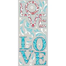 LOVE Wall Sticker Mural Decal Paisley Embellishment Word Wall Quotes Decor