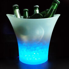 5L Glowing LED Ice Bucket 7-Color Champagne Wine Drinks Beer Ice Cooler for Bars