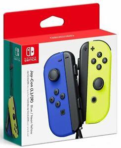 Nintendo Switch Joy-Con 2er Set Blau & Neon-Gelb (NEU)