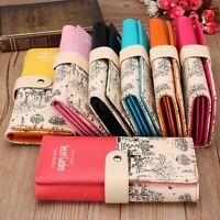 Women Ladies Fashion PU Leather Wallet Long Purse Card Holder Bag Clutch Handbag