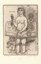 "Exlibris Erotic ex libris ""Woman book"" by FEDORENKO ALEXEJ /Ukr"