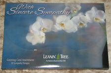 LEANIN TREE With Sincere Sympathy 20 GREETING CARDS #90784~1 each of 20 designs~