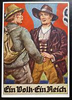 1941 Klagenfurt Germany Patriotic Picture Postcard Cover Reich People