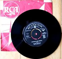 NEAR MINT! ELVIS CRYING IN THE CHAPEL b/w I BELIEVE IN THE MAN... (RCA 1545)