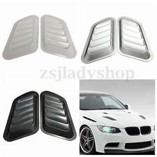 2x ABS Car Decorative Air Flow Intake Scoop Turbo Bonnet Vent Cover Hood Fender
