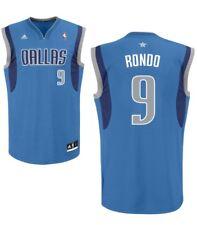 New Rajon Rondo Dallas adidas Replica Jersey - Royal Blue Medium 100% GENUINE
