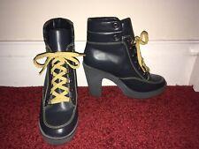 Carvela Heeled Platform Lace Up Boot 8