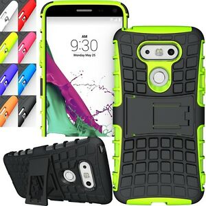 Shockproof Rugged Hybrid Dual Slim Armor for LG G5 Kick Stand Case Cover