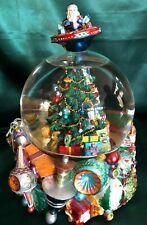 CHRISTOPHER RADKO MUSICAL CHRISTMAS SNOWGLOBE / WATERBALL- CHESTNUTS ROASTING