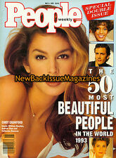 People 5/93,Cindy Crawford,The 50 Most Beautiful People in The World 1993,NEW