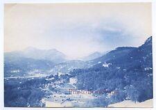 Nice vue prise du fort de Montalban Photo James Jackson Vintage Cyanotype 1886