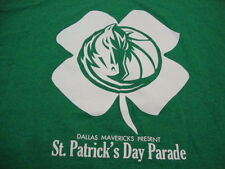 NBA Dallas Mavericks Basketball Fan St. Patrick's Day Parade Green T Shirt 2XL