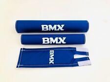 BMX Polster Set Pad Set NEU Old School Retro blau 3-teilig