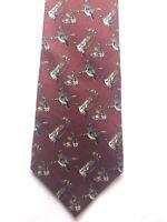 Vintage Ducks Unlimited Neck Tie Silk Made In The USA Ducks 100% Silk