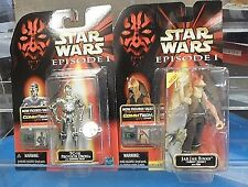 Star Wars EP1 Swimming Jar Jar Binks & TC-14 Action Figures Still Carded Mint
