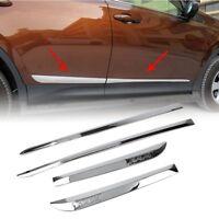 For Toyota RAV4 2013-2018 Door Body Side Line Cover Molding Chrome Trim ABS 4Pcs