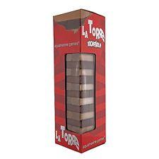 Torre Jenga, Juego de equilibrio en madera maciza. 54 piezas. Dado incluido