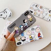 Cute Snoopy air pressure TPU Phone Case For iPhone Max XR XS X 8 7 6 Plus