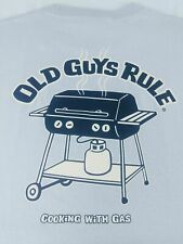 Old Guys Rule Mens Large TShirt Cooking with Gas BBQ Gray Cotton New with Tags