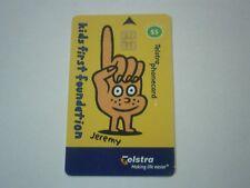 "KIDS FIRST FOUNDATION TELSTRA PHONE CARD ""JEREMY"" EXP 2002 AUSTRALIA - FREE POST"
