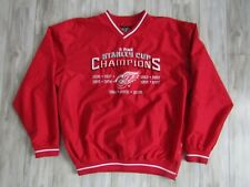 NHL Detroit Red Wings 11 Times Stanley Cup Pullover Jacket Windbreaker Size L