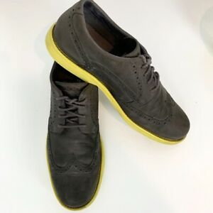 Timberland Taupe Earthkeepers Yellow Sole Wingtip Oxford Shoes, Size 10.5M